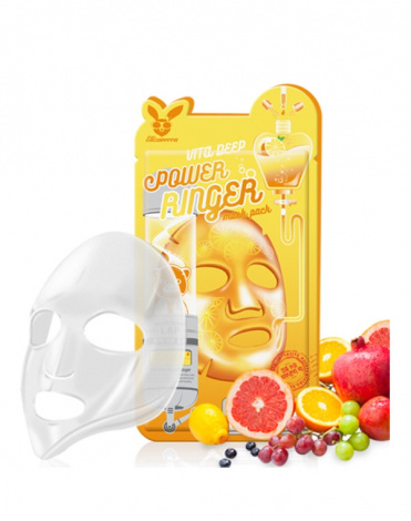 Маска для сияния кожи лица Vita Deep Power Ringer Mask Pack Elizavecca, 23 мл х 10 шт 2